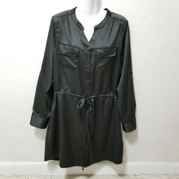 LOGO Lori Goldstein Instant Chic Long Sleeve Tunic